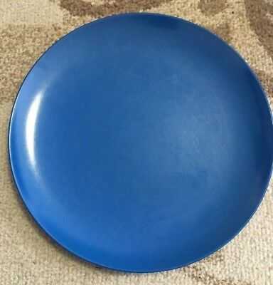 RARE Vintage 1950s Texas Ware Dinner Plate Royal Blue TWIN PEAKS Type Mantel