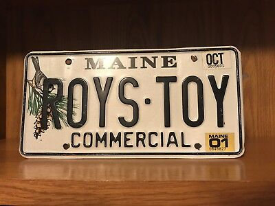 License Plate Maine Vanity Personalized Roys Toy October 2001 Roy Leroy