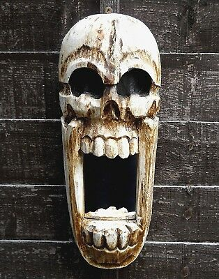 Wooden Mask or Frame Wall Gothic Horror Style 40 cm Home Decoration NEW