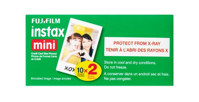 Fujifilm Instax Mini ISO 800 Color Instant Film 20 Exposures 2 Photo Cassettes