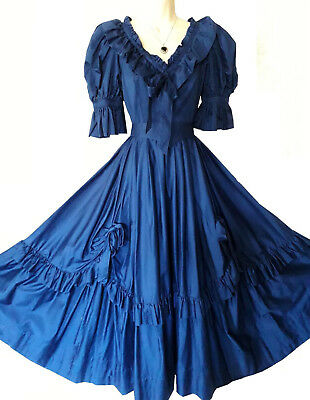 Vintage Laura Ashley  Blue Southern Belle Victorian Princess Wedding Dress. 8-10