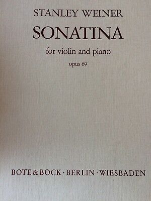 Weiner - Sonatina Op.69 - for violin and piano