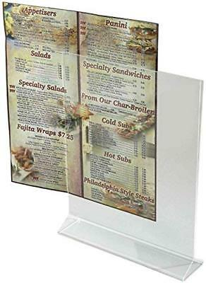 """(Pack of 6) 8½"""" x 11"""" Acrylic Sign Holder / Clear Table Card Display /"""