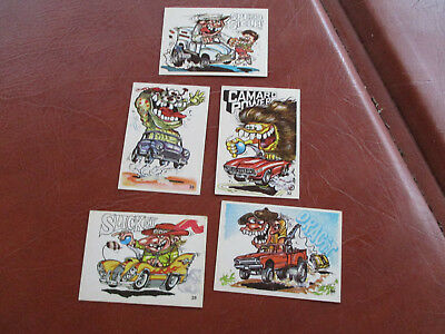Vintage Odd Rodder Sticker Cards Qty. 5