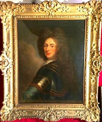 Early 18th Century  Amazing Oil Painting  Portrait Of Lord Armand 1662-1723
