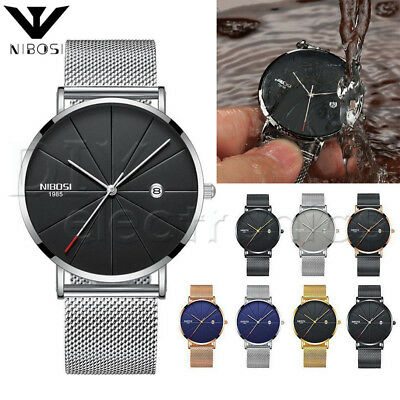 NIBOSI Unisex Style Watch Men and Women Watch Luxury Famous Brand Dress US