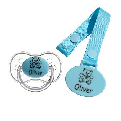 Personalised Soother Avent Soother And Soother Clip * Crown *Can Be Sterilised*