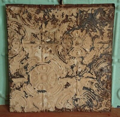 architectural antique salvaged American tin ceiling tile Ohio 1898-1901 medium*