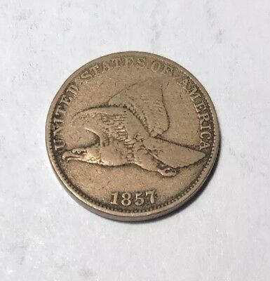1857 Flying Eagle Cent Circulated