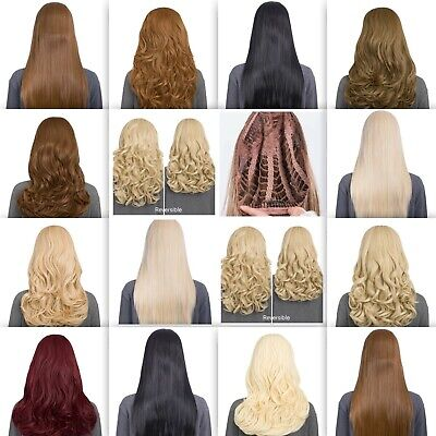"""Koko Curly Half Head 3/4 Wig Hairpiece Extension Weave Various Natural Long 24"""""""