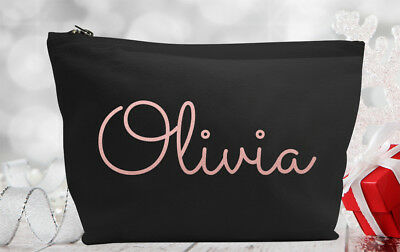 Personalised Make Up/Wash Bag Mothers Day Gift Present Kids - Any name