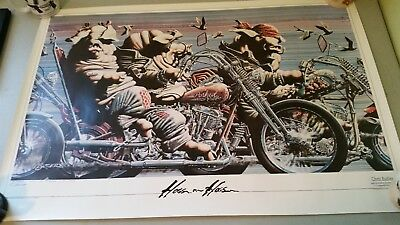 Hogs On Hogs Harley Choppers Autographed Print