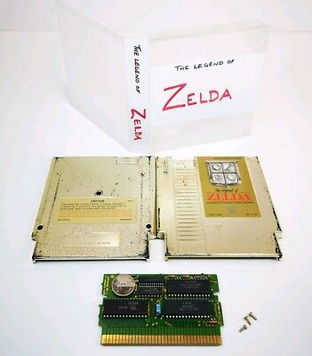 Legend of Zelda Authentic Nintendo NES Gold Game Cart Clean Tested Guaranteed