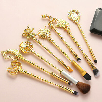 """8pc/Set Hot Game of Thrones Makeup Brushes Set """"Winter is coming""""King's"""