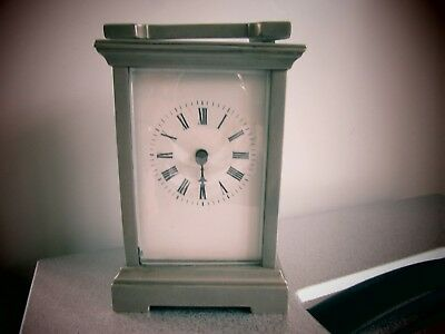 Old silver metal carriage clock French??spares or repair