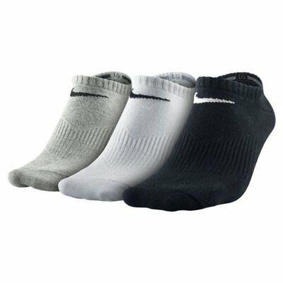Nike Men's 3 Pair LightWeight No Show Socks Running Soccer Casual NWT SX4705-901