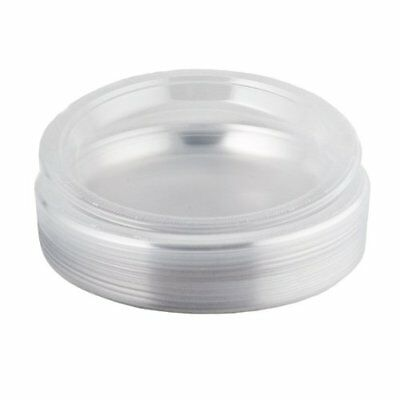 50 x Plastic Clear Round Disposable Party Side Buffet Plates - 7 18cm.