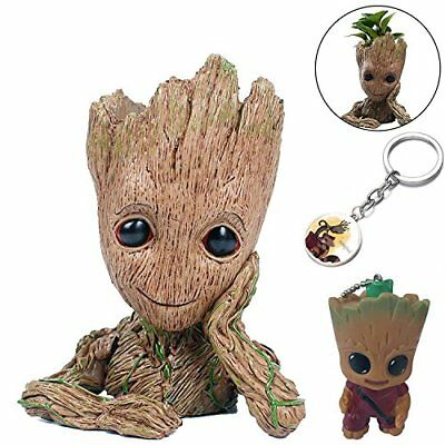 KRUCE 3 Pack Groot Flowerpot Guardians of The Galaxy Baby Action Figures Cute Mo