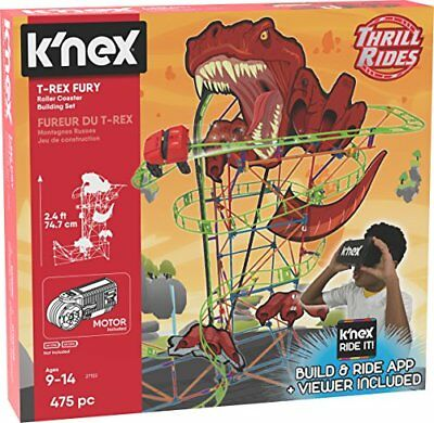 KNex 27152 Thrill Rides, T-Rex Fury Roller Coaster Building Set, Ages 9 Virtua