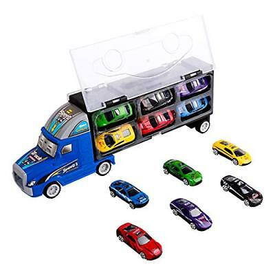 Zmoon Transport Carrier Truck Toy, Car Transporter with 12 Colorful Mini Metal C