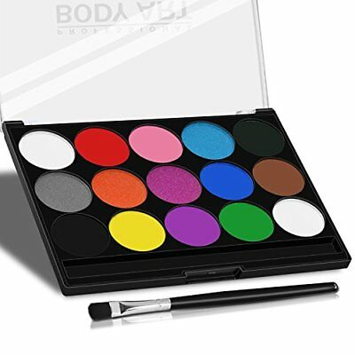 Xpassion Water Based Face Paint Palette 15 Colors Non-Toxic Kids Safe Face Body