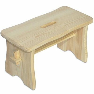 Small Toddler Child Wooden Chair Foot Stool Step  39 x 18 x 21 cm  Small Unpai