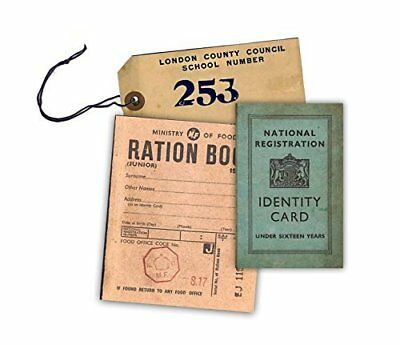 WW2 Replica Ration Book, Evacuee Tag and Identity Card by Memorabilia Pack Compa