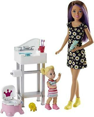 Barbie FJB01 Skipper Babysitters Including Doll and Playset, Multi-Colour