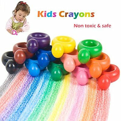 Kids Babies Crayons, 12 Colours Paint Crayons for Toddlers, Child, Adult, Ring S