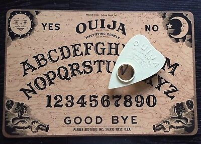 Vintage 70s Ouija Board Mystifying Oracle Box Parker Brothers Halloween Decor