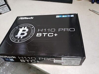 ASX motherboard with ASRock Intel H110 chipset H110 PRO BTC + NEW Sealed