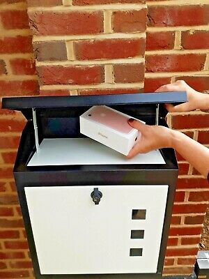 Large PARCEL/MAILBOX, Waterproof, lockable, secure steel, stong design, FREE DEL