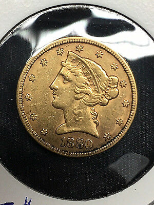 USA 5 Dollar von 1880 in Gold Eagle