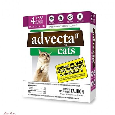 Cat Flea Treatment Dog Home 4 Month Supply Adults Water Proof Fragrance Advecta