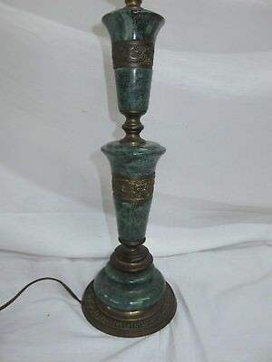VINTAGE Table Lamp Bronze / Brass and Marble / Granite / Jade Greek Design