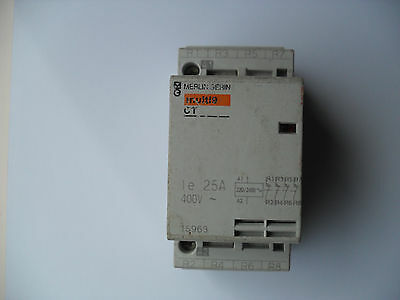 Merlin Gerin multi9 CT 15963, 25A, AC1, 4 pole contactor. 220/240v, N/C contacts