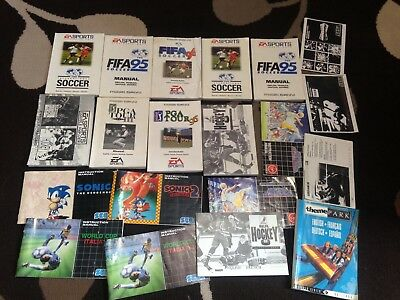 Sega Mega Drive Replacement Instruction Manuals Job Lot Bundle lot 104