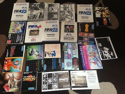 Sega Mega Drive Replacement Instruction Manuals Job Lot Bundle lot 103