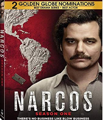 Narcos Season 1 One Complete Collection DVD Box Set First TV Series New