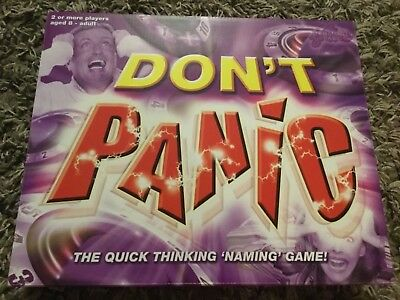 Don't Panic Family Board Game The Quick Thinking Naming Game new & sealed
