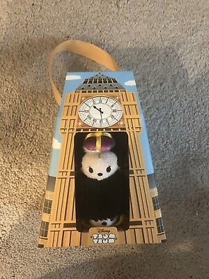 Disney Store London Tsum Tsum Boxed Set Mickey & Minnie Mouse Big Ben Clock NEW