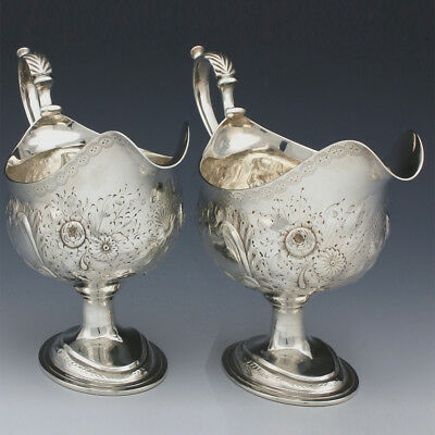 Pair of Antique Sterling Silver Sauce Boats ~ William Skeen 1782 ~ George III