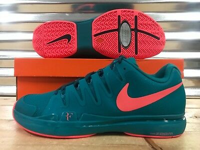 7b03161180a Nike Zoom Vapor 9.5 Tour LG Federer Tennis Shoes Emerald Lava SZ (  813025-300