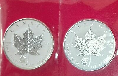 2 x 1 oz Silber Maple Leaf Privy Mark Panda  2016 Frosted Proof-Auflage: 50 000