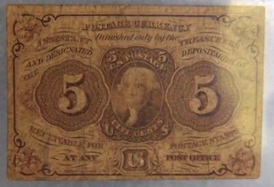 5 Cent Postage Fractional Currency 1862 1st Issue FR1230 VG+