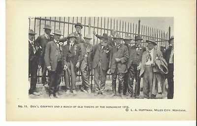 Postcard Rppc L A Huffman Photo No. 11 Gen'l Godfrey And Old Timers 1916