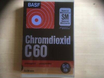 Basf Chromdioxid  C60 In Library Box 1971 Factory Sealed Audio Cassette