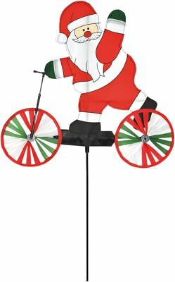Santa On Scooter Wind Spinner Outdoor Christmas Decoration By Spirit Of Air