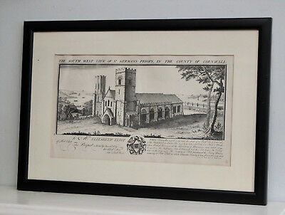 A Fine Early c18th Cornish Engraving Samuel & Nathaniel Buck, Dated 1734