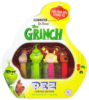 New Release 2018 Pez Dispenser~~The Grinch~~Sealed Gift Tin~Mint